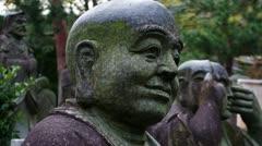 Buddhist Statues Stock Footage
