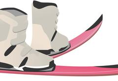 Ski sports boots Stock Illustration