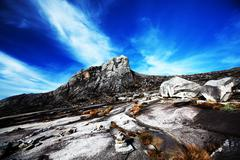 mount kinabalu - stock photo