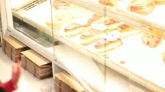 Pick out a donut. Stock Footage