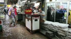 Amulet Market flood 9529 Stock Footage