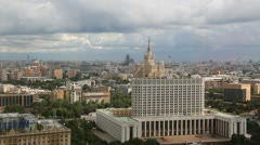"Moscow ""White house"". Skyline Stock Footage"