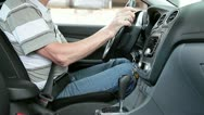 Start engine, gearbox - driving away Stock Footage