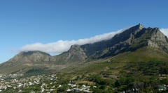 Table mountain, cape town, south africa Stock Footage
