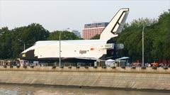 Buran spaceship pov Stock Footage
