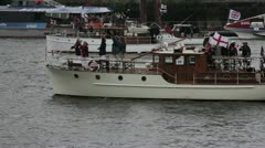 Thames Diamond Jubilee Boat Procession Stock Footage