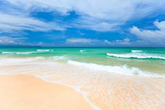 Sandy beach Stock Photos