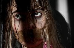 Woman hostage Stock Photos
