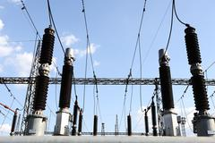 Voimala tehdä sähköenergian Kuvituskuvat