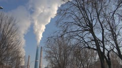 Pollution, warming effect globale.Pollution in town. Stock Footage