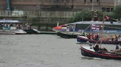 Thames Jubilee Boat Flotilla Stock Footage