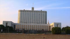 "Moscow ""White house"" POV Stock Footage"