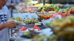Food buffet Stock Footage