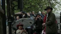 Diamond Jubilee Flotilla Spectators Stock Footage