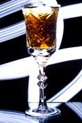 Goblet with alcohol Stock Photos
