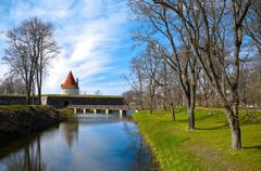 kuressaare castle tower - stock photo