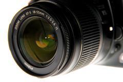 dslr lens close up - stock photo