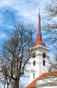 church tower in kuressaare - stock photo