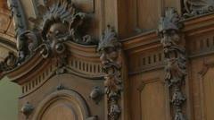 Edegger Tax, Graz bakery, woodcut, done 1569, Austria Stock Footage