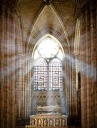 saint denis cathedral - stock photo