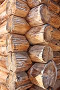 Stock Photo of wooden log house