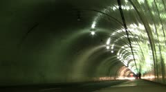 The 2nd Street Tunnel Los Angeles Stock Footage
