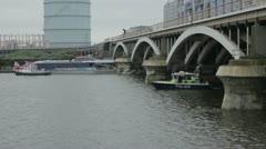 Diamond Jubilee Flotilla Stock Footage