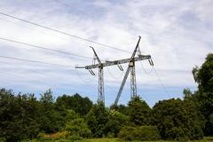eletricity tower - stock photo