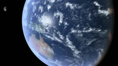 Dynamic Flight Away from Australia - CG Earth 1080p HD Stock Footage