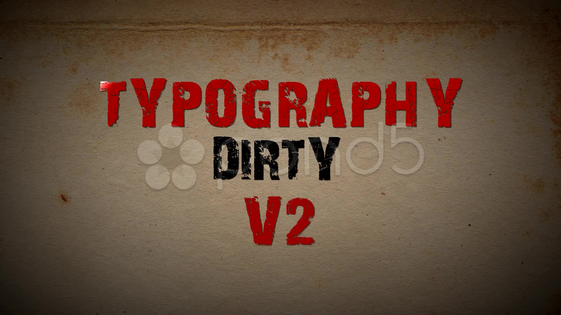 After Effects Project - Pond5 Dirty Typography V2 20631066