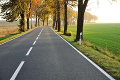 country road, beautiful scene - stock photo