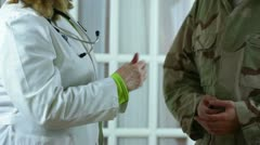 veterans hospital vet doctor medical soldier - stock footage