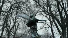 Angel Statue Wings Stock Footage