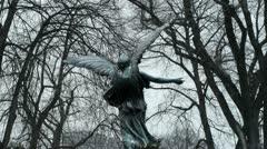Angel Statue Wings - stock footage