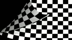 Chequered flag Page Curl, Wipe, transition. Stock Footage