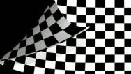 Stock Video Footage of Chequered flag Page Curl, Wipe, transition.