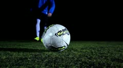 Soccer Ball Kick - stock footage