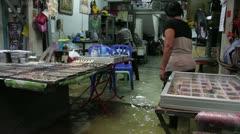 Amulet Market flood 9553 Stock Footage