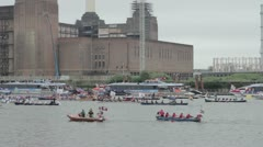 Jubilee Boat Procession Stock Footage