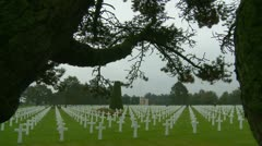 The Normandy American Cemetery (19) Stock Footage