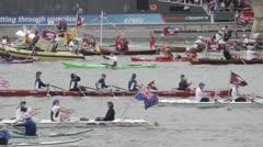 Diamond Jubilee Thames Flotilla Stock Footage