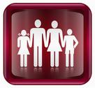 People icon red Stock Illustration