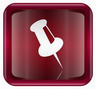 Thumbtack icon red Stock Illustration