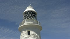 Cape naturaliste lighthouse in south western australia Stock Footage