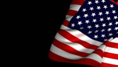 USA flag Page Curl, Wipe, Transition. Stock Footage