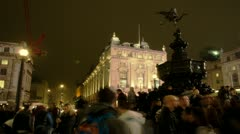 Time Lapse of crowd around Piccadilly Statue, London Stock Footage