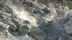 Fumaroles-solfatara-pozzuoli Stock Footage