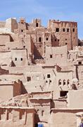 kasbah in ait ben haddou - stock photo