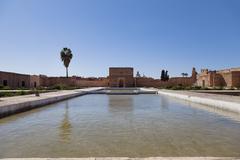 El badi palace Marrakech, Morocco Stock Photos