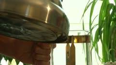 Preparation of herbal tea 2 Stock Footage